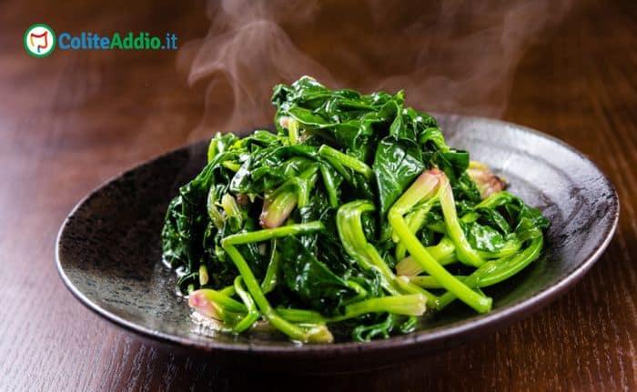 spinaci e colite