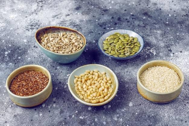 piatti con fibre alimentari
